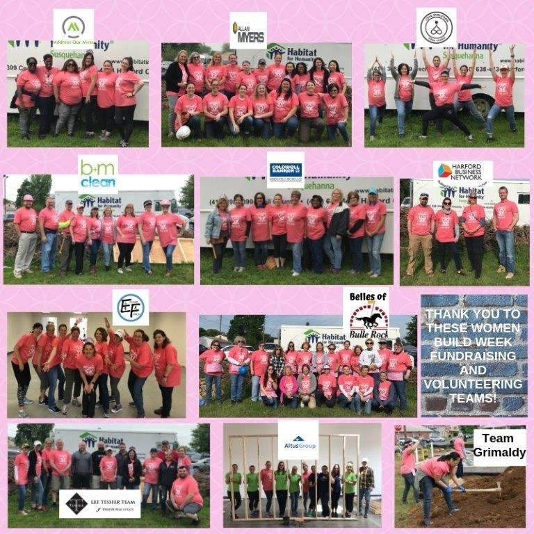 2019 women build teams collage photo