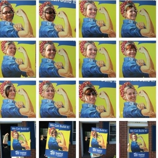 2018 Women Build Rosie the Riveter collage